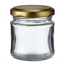 Load image into Gallery viewer, Nutley's 100ml Round Jam Jars: Pick Quantity and Lid Colour