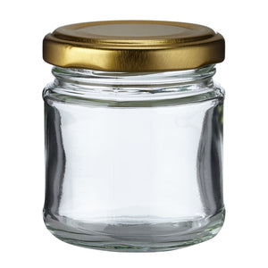 Nutley's 100ml Round Jam Jars: Pick Quantity and Lid Colour