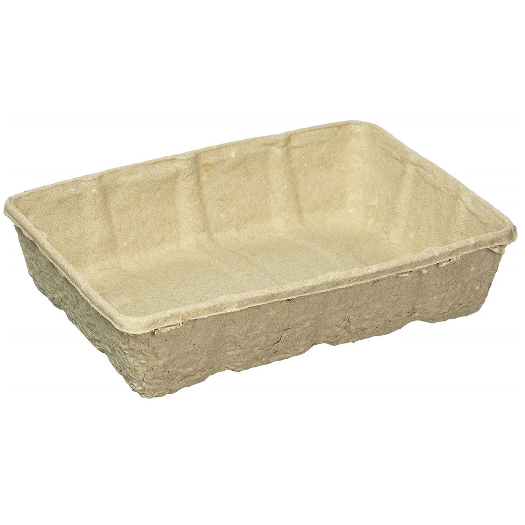 Nutley's biodegradable seed trays half size recyclable greenhouse compostable mushroom tray