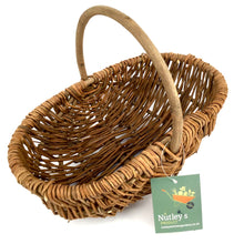Load image into Gallery viewer, Nutley's Beautiful Small Hand-Made Rustic Willow Garden Trug Basket wicker