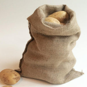 Hessian Potato Sack Easy Carry 30 x 45cm 5kg Half Size Vegetable Storage Bag