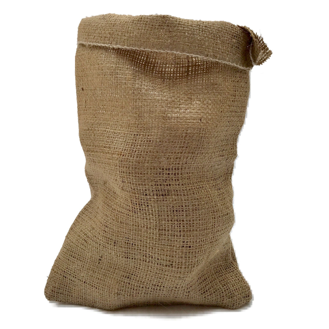 Nutley Small Hessian Garlic Bag Sack 14cm x 20cm keep garlic bulbs fresher longer