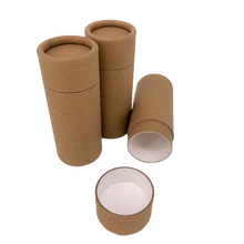 Load image into Gallery viewer, Nutley's 70ml Cardboard Deodorant Tubes Eco Friendly Cosmetic Fragrance 2.5oz Natural Recyclable Biodegradable