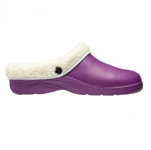 Briers Lavender Thermal Clogs Cream Fleece Lined Garden Outdoors Sizes 4-8