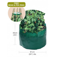 Load image into Gallery viewer, Garland Bean & Pea Bag with dimensions