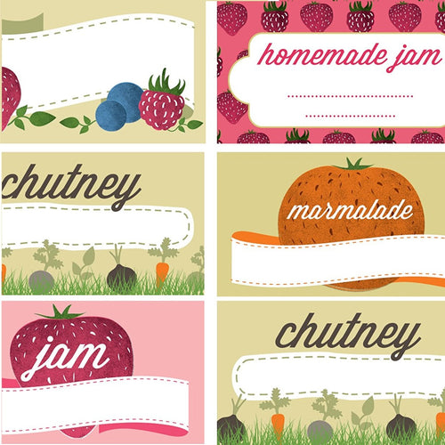 144 Nutley's Preserve Labels stickers jam chutney marmalade jam jars home made