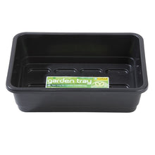 Load image into Gallery viewer, Garland Standard Half-Size Seed Tray: Made in UK black/green, with/without holes
