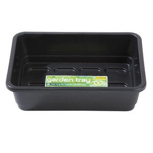 Garland Standard Half-Size Seed Tray: Made in UK black/green, with/without holes