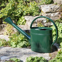 Load image into Gallery viewer, Burgon & Ball 5 Litre Waterfall Watering Can - British Racing Green Outside