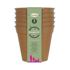 Haxnicks Terracotta 7.5cm Bamboo Fibre Pot