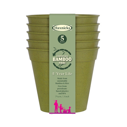 Haxnicks Sage Green Bamboo Fibre Pot 7.5cm