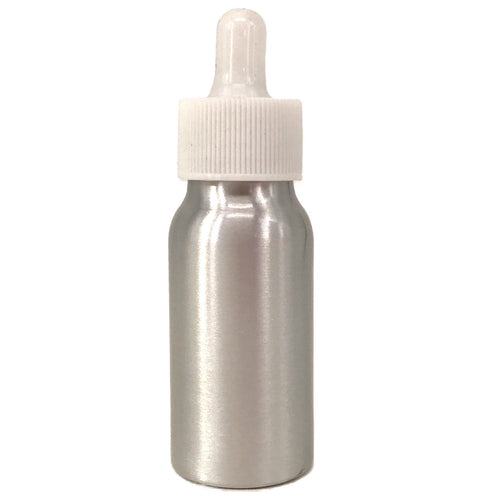 Nutley's 30ml Aluminium Dropper Bottle Pipette Glass Dropper Bottles cosmetics oils fragrance beauty oils white dropper cap modern stylish