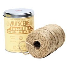 Load image into Gallery viewer, Authentic Nutscene Tin O' Twine Jute String 150m Black Lilac Red Blue Natural Green