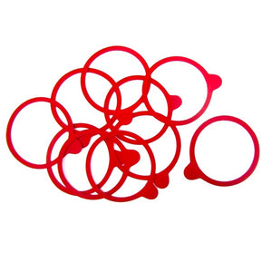 10 Narrow rubber sealing rings for Kilner-style clip-top jars: 74 x 86mm