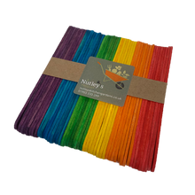 Load image into Gallery viewer, Nutley's Coloured Wooden Seedling Labels Rainbow Mix plant markers tags birch wood 11.4cm