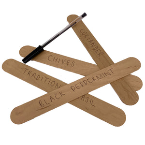 Nutley's Large Wooden Seedling Plant Row Markers Labels