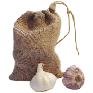 Nutley's Small Hessian Drawstring Garlic Bag Sack 14cm x 20cm keep bulbs fresher longer