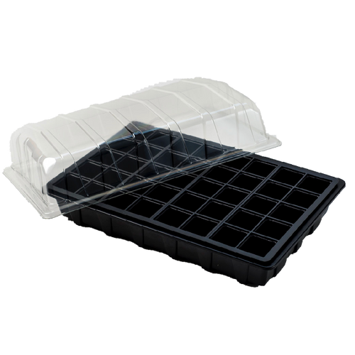 Nutley's Full-Size Seed Propagator Sets Tray with or without drainage holes, 40-Cell Insert, Lid seedlings