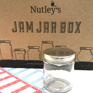 Nutley's 190ml Round Jam Jar and Dotty Label Special Box
