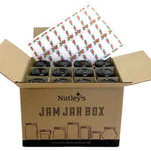Load image into Gallery viewer, Nutley's 190ml Round Jam Jar Box: Select Lid Colour and Self-Adhesive Label Design
