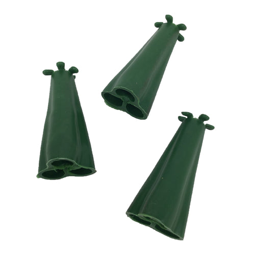 Pyramid Rubber Cane Caps Cane toppers Takes 3 Bamboo Canes, runner beans etc