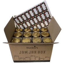 Load image into Gallery viewer, Nutley's 8oz Hexagonal 24 Jam Jar Box Special Gold F4 Labels