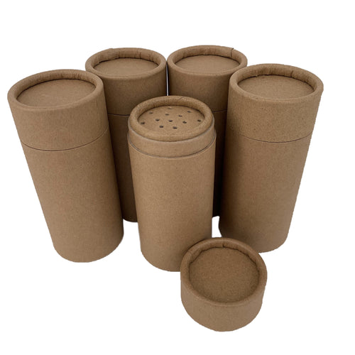 Nutley's 100ml Cardboard Powder Shaker Tubes Plastic Free Compostable