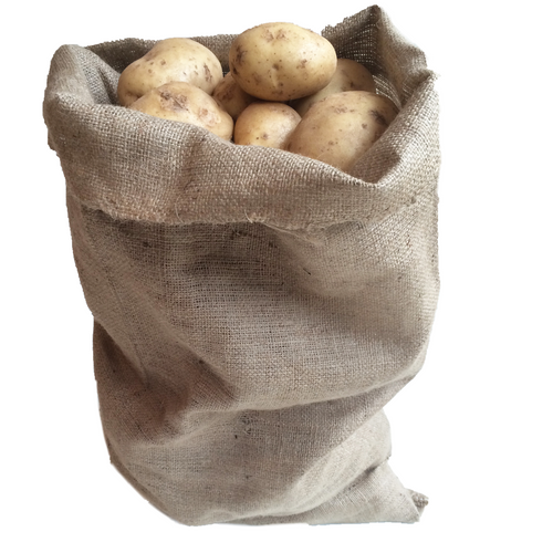 Hessian Potato Sack Bag storage for onions root vegetables 50 x 80cm 8.9oz grade