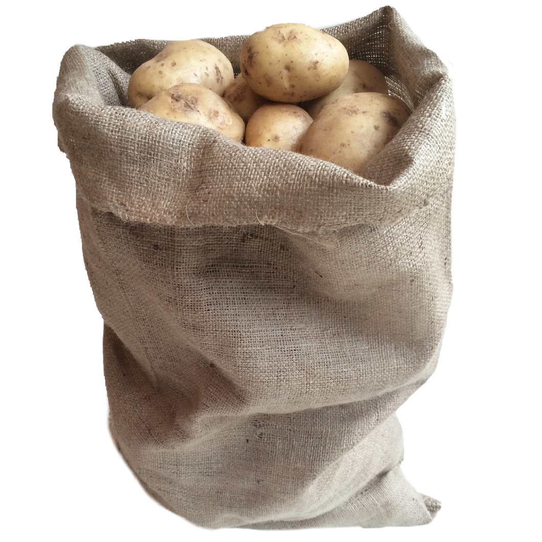 Nutley's Medium Hessian Sack Jute Potato Vegetable Storage Bag 45 x 60cm