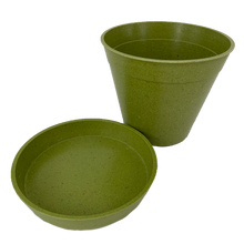 Load image into Gallery viewer, Haxnicks Bamboo Plant Pots and Saucers Biodegradable Compostable Free Delivery BPA Free Compost Biodegrade
