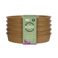 Load image into Gallery viewer, Haxnicks Bamboo Saucers Biodegradable Compostable Green Terracotta Rich Starch Composting Free from BPA 5 Year Guarantee