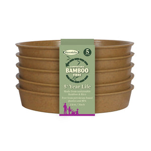 Haxnicks Bamboo Saucers Biodegradable Compostable Green Terracotta Rich Starch Composting Free from BPA 5 Year Guarantee