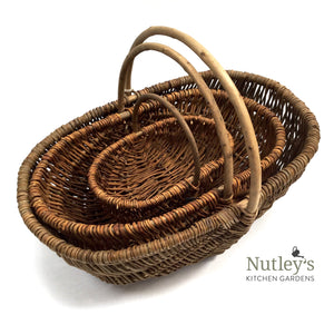 Nutley's Trio of Willow Hand Made Trugs