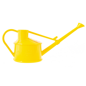 Haws 0.7 Litre (1 Pint) Langley Sprinkler Watering Can Recyclable Plastic Rose Included - Yellow [150-1-YEL]