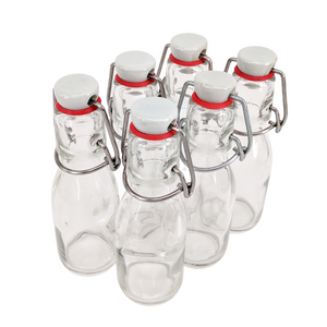 Six of Nutley's 100ml Glass Bottle with Ceramic Swing Stopper