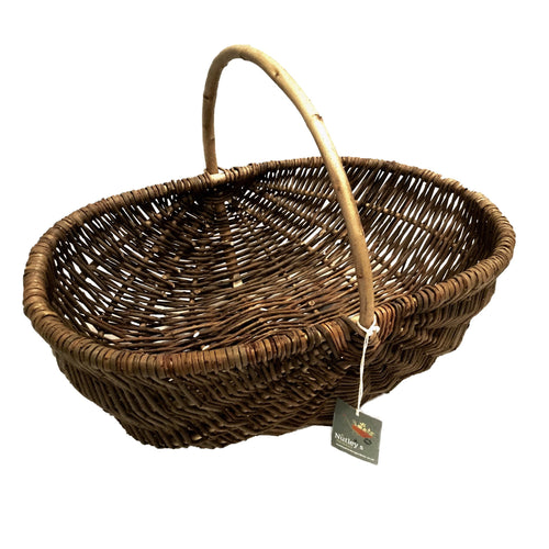 Nutley's Large Beautiful Hand-Made Rustic Willow Garden Trug Basket wicker trug rustic basket basket with handle biodegradable