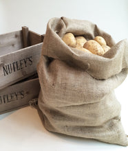 Load image into Gallery viewer, Hessian Potato Sack Bag storage for onions root vegetables 50 x 80cm 8.9oz grade