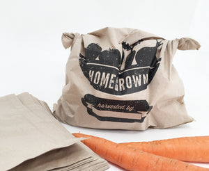 Nutley's Home Grown Produce Grocery Paper Bags
