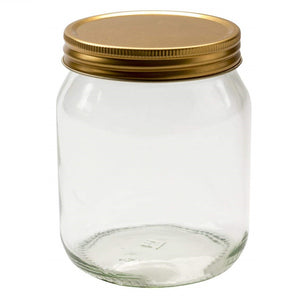 Nutley's 345ml Round Honey Preserve Jars with Gold Lids