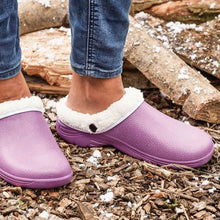Load image into Gallery viewer, Briers Lavender Thermal Clogs Cream Fleece Lined Garden Outdoors Sizes 4-8