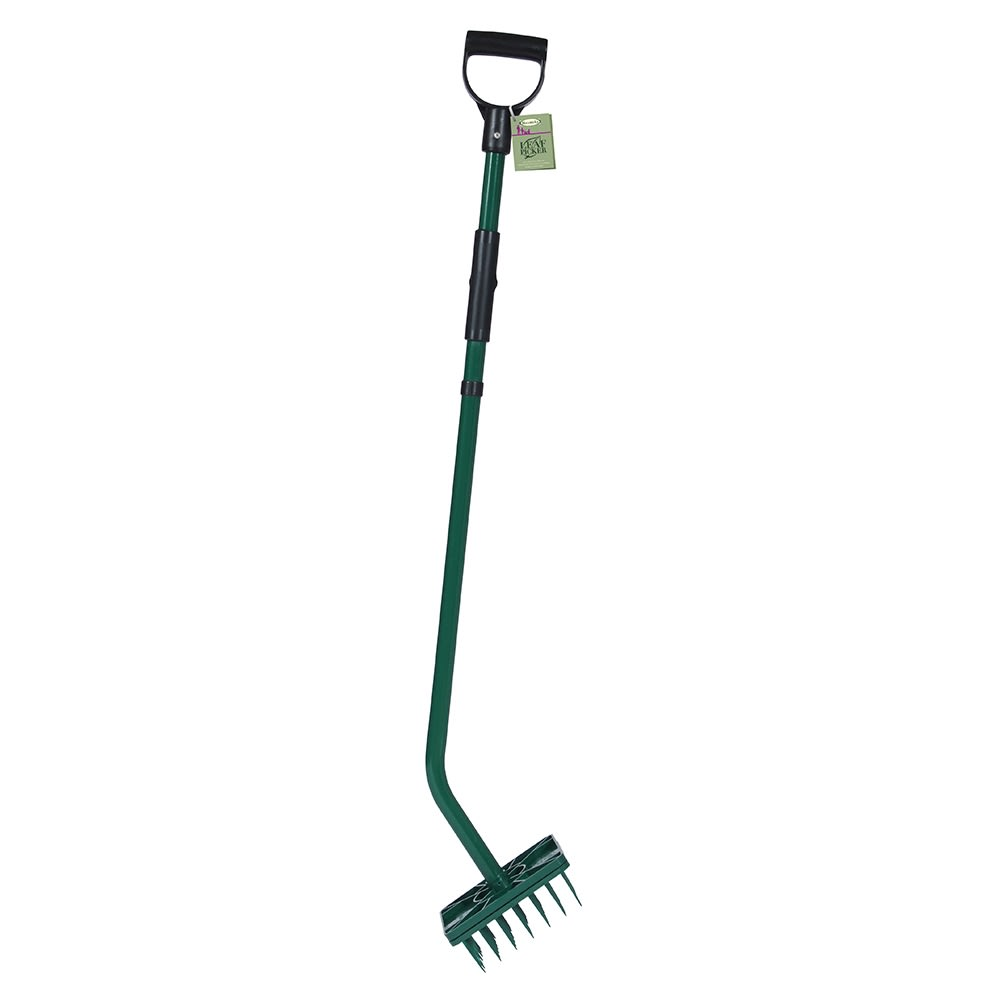 Haxnicks Leaf Picker Tool Spikes Leaves With Release Mechanism Garden Clearing