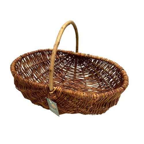 Nutley's Beautiful Hand-Made Rustic Willow Garden Trug Basket wicker, MEDIUM