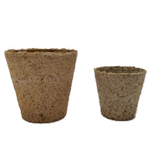 Load image into Gallery viewer, Nutley's 6cm and 8cm Round Jiffy Peat-Free Fibre Plant Pots Duo
