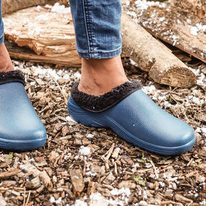 Briers Navy Blue Thermal Clogs Fleece Lined Garden Outdoors Sizes 4-11