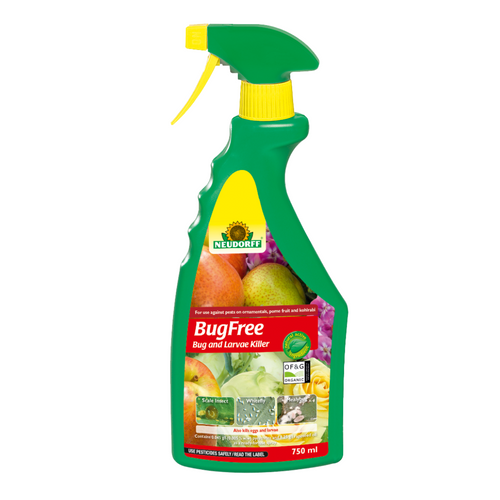 Neudorff BugFree Bug and Larvae Killer Natural Insect Killer Spray Whitefly Aphids Thrips 750ml