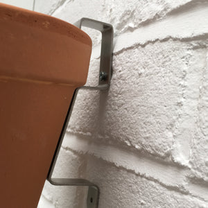 Nutley's Hidden Hanging Wall Bracket: Select With or Without Terracotta Pot