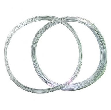 30m Galvanised Garden Wire strong 2mm thick tying supporting plants fabrics