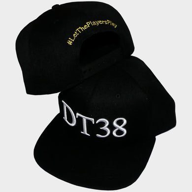 DT38 Snapback Cap - Black with White and Black