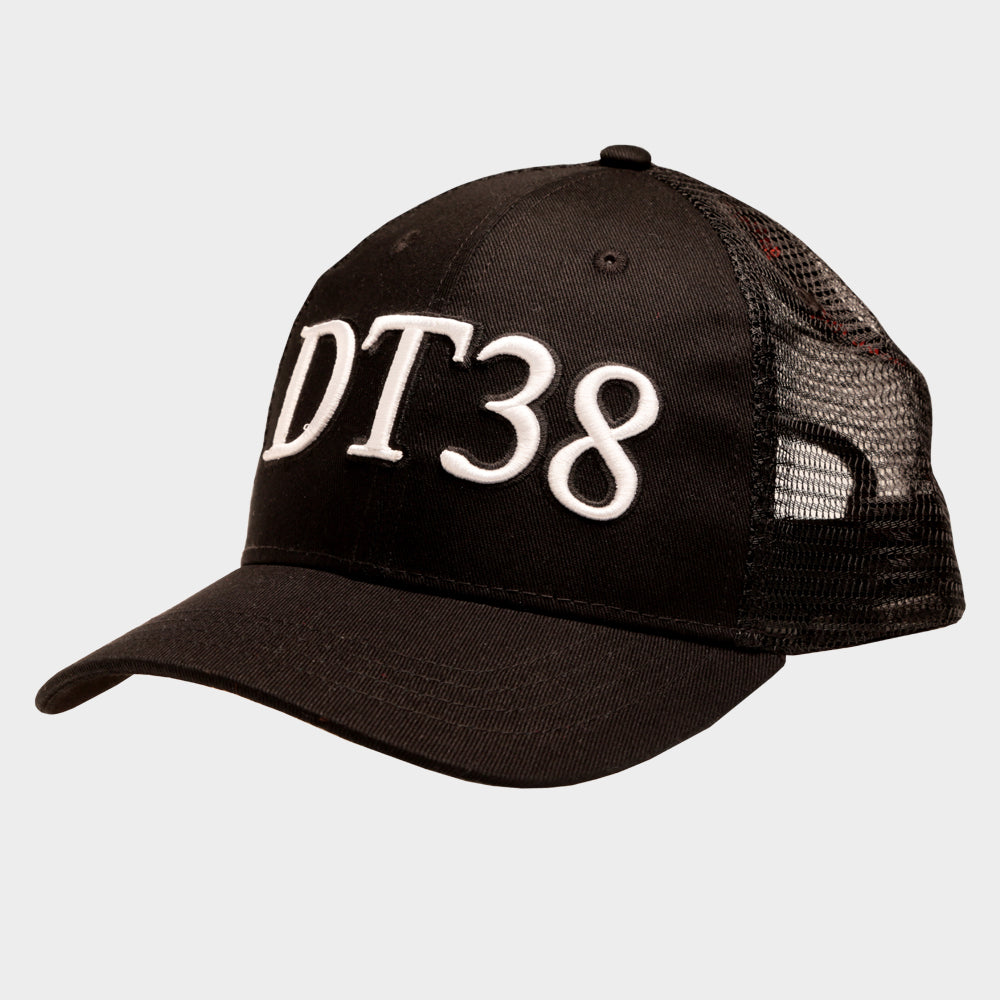 Child's DT38 Trucker Cap - Black and White