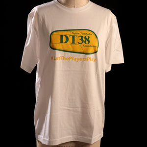 T-Shirt - White with Green and Gold DT38 Shinpad Logo